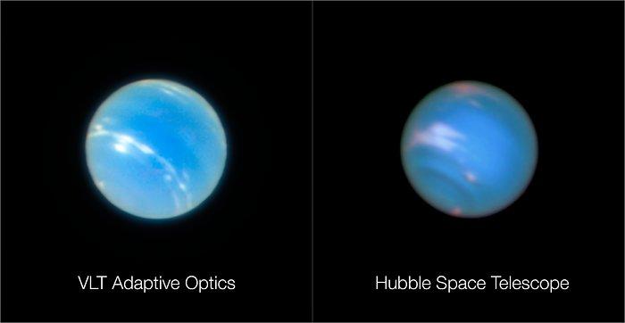 Neptuno desde el VLT y el Hubble | ESO