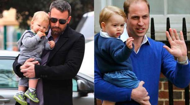 Ben Affleck y el príncipe William con sus hijos