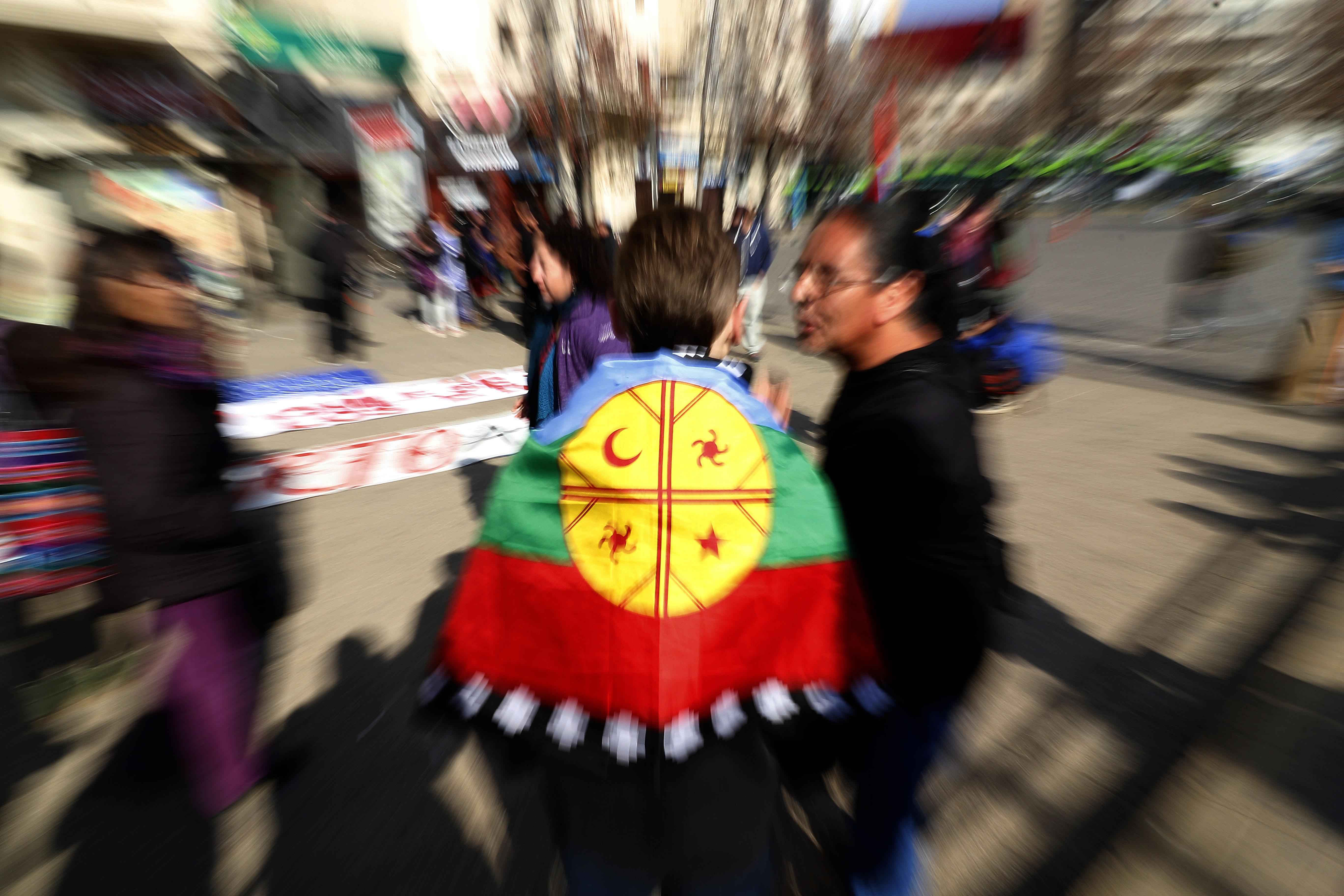 Marcha en apoyo al machi Celestino Córdova (julio de 2018) | Leonardo Rubilar Chandia | Agencia UNO