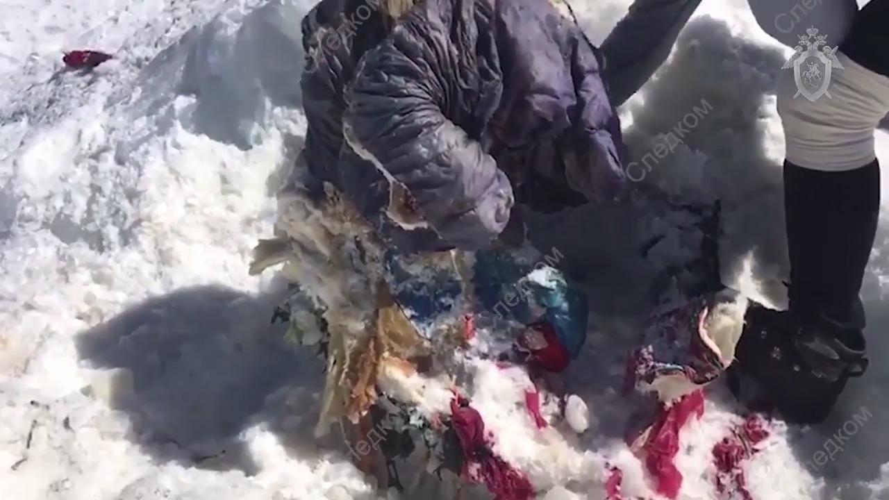 Ropas que cubren el cuerpo momificado de Elena Basykina | Daily Mail