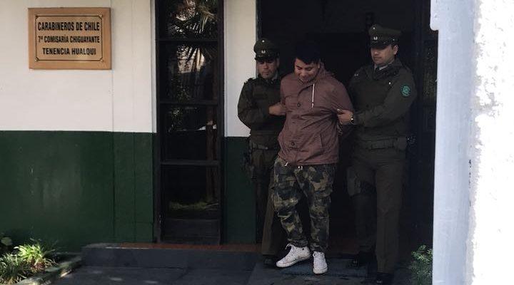 Carlos Spielman hijo, tras ser detenido | Archivo