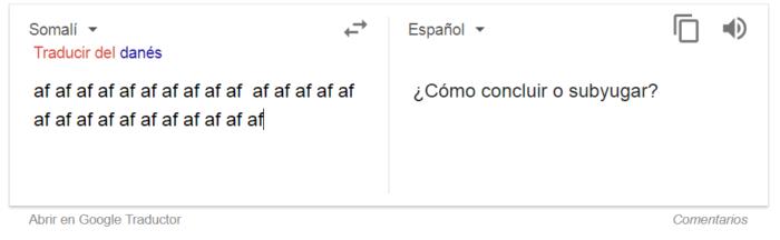 Captura del traductor de Google | BioBioChile