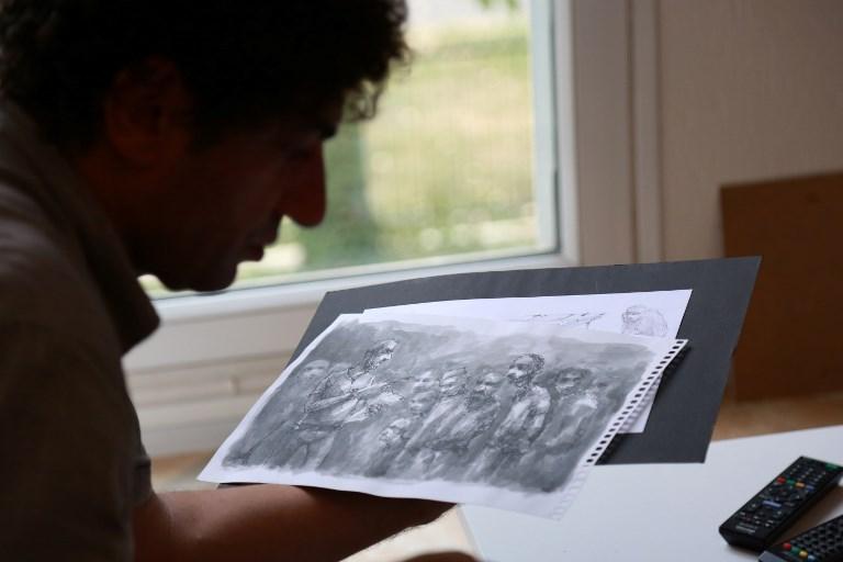 Dibujos de Najah Albukai | Zakaria Abdelkafi | AFP