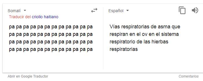 Captura del traductor de Google   BioBioChile