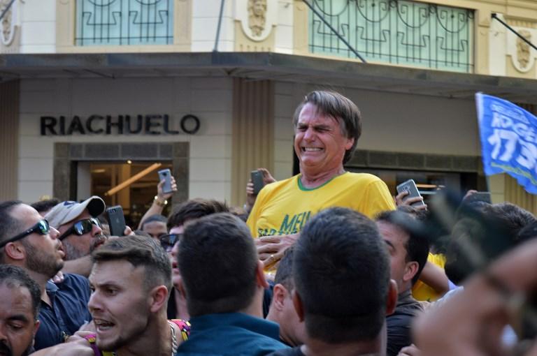 Bolsonaro en el momento del ataque | Agence France-Presse