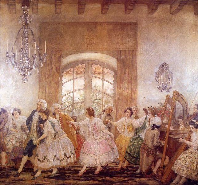 Baile del Santiago (de Chile) antiguo   Pedro Subercaseaux   Wikimedia