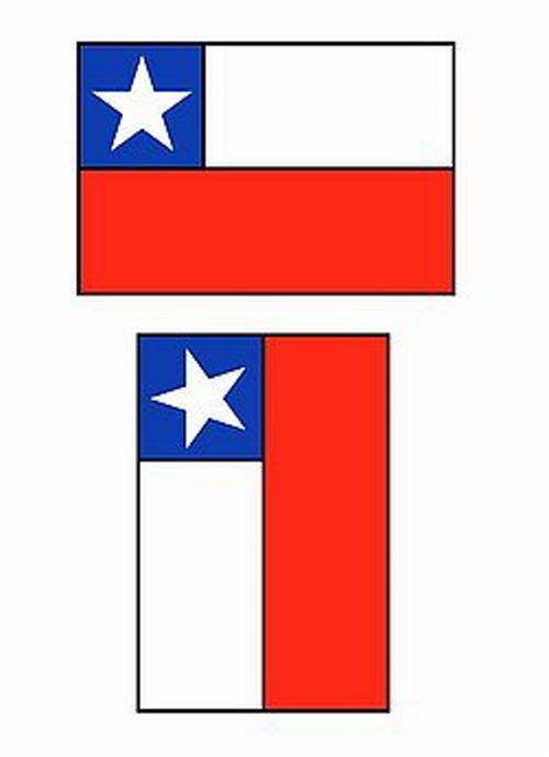 Uso correcto bandera chilena