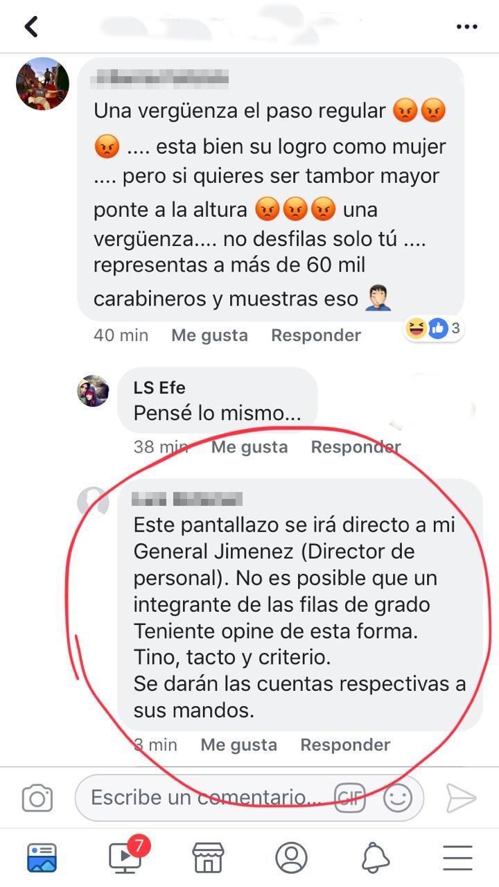 Posteo en Facebook