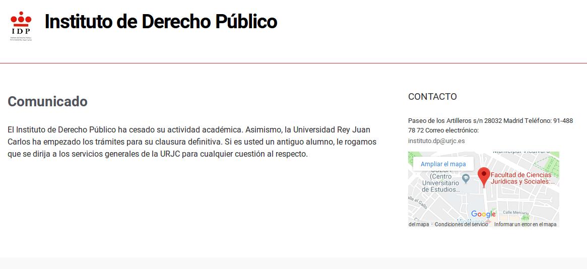 Captura sitio web oficial