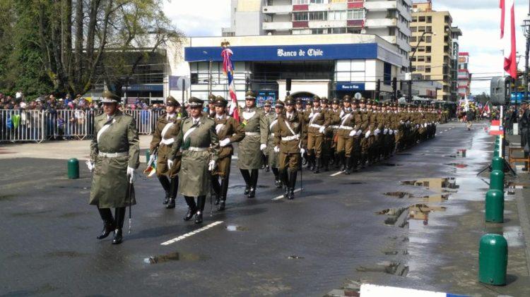 Desfile en Temuco
