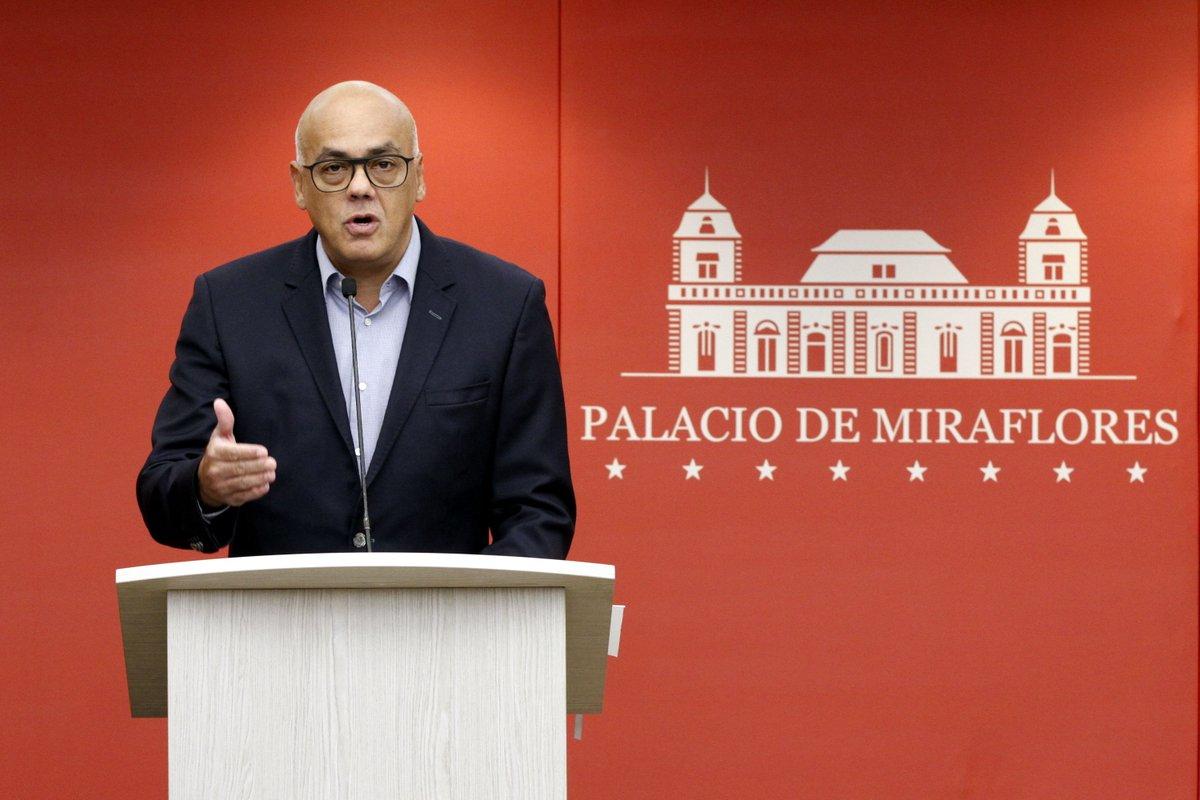 Ministro de Comunicación e Información, Jorge Rodríguez   @Mippcivzla   Twitter