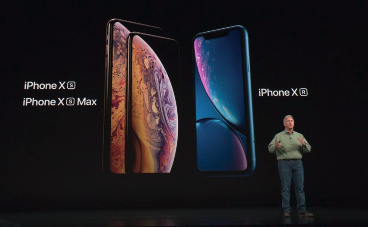 Los nuevos iPhone XS y XS Max de Apple.