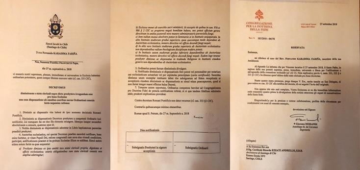 Notificación de expulsión de Karadima | Cedido