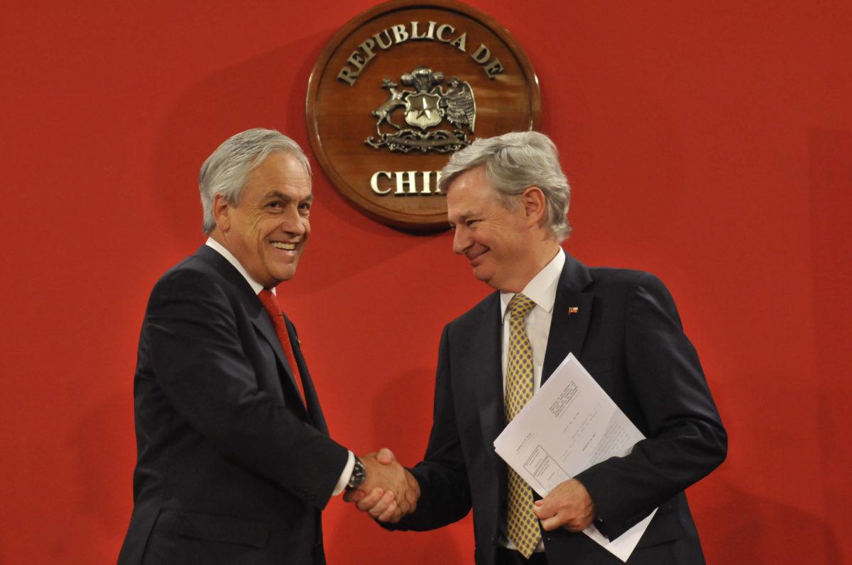 Sebastián Piñera y Jorge Bunster | ARCHIVO | Agencia UNO