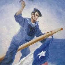 Retrato Fernández Vial en el Combate Naval de Iquique | Armada de Chile