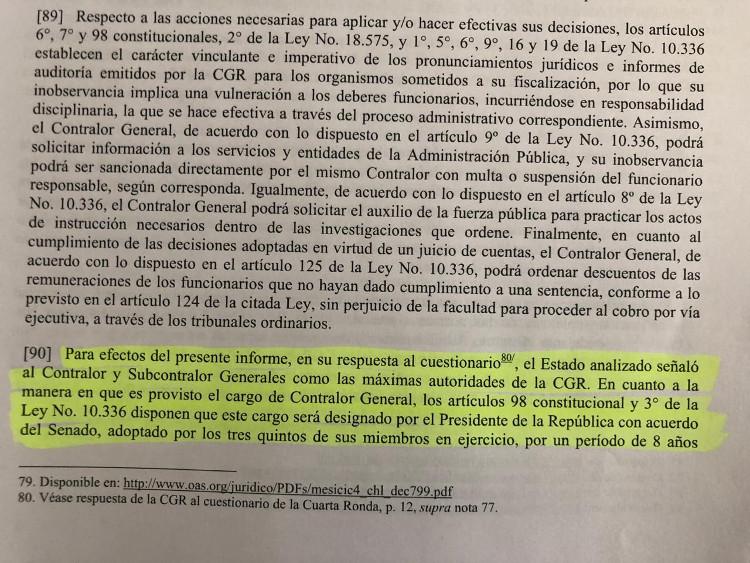 Informe Mesicic | Néstor Aburto (RBB)