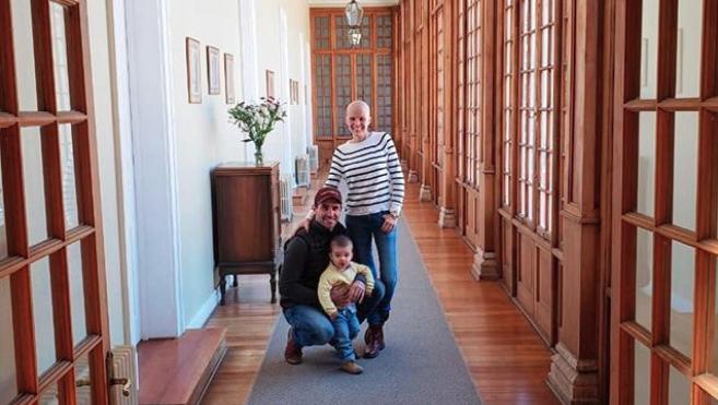 Javiera Suárez y su familia: Cristian y Pedro | Instagram