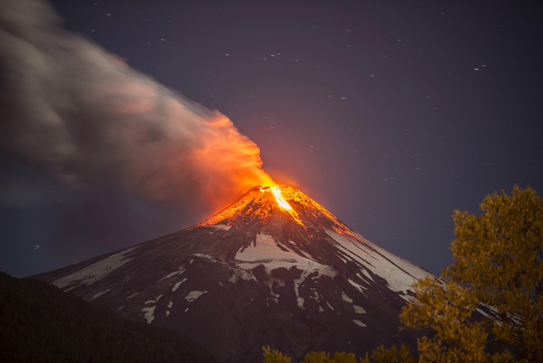 Erupción del volcán Villarrica en 2015 | Francisco Negroni | Agencia UNO