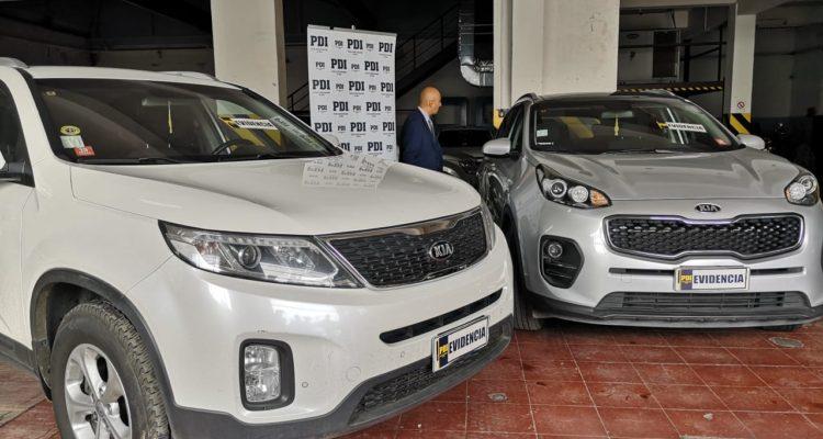 Vehículos marca Kia localizados por delito de estafa | Pedro Cid (RBB)