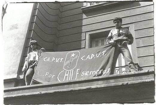 Manifestantes a favor de la dictadura, 11 de septiembre de 1996 o 1997, EM (c)