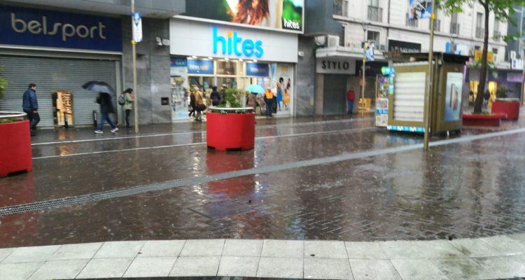 Concepción | Paseo peatonal queda vacío tras precipitaciones | Sergio Osses (RBB)