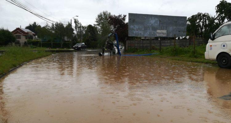 Concepción | Avenida Ramón Carrasco cortada hasta que baje nivel del agua | Valeska Belmar (RBB)