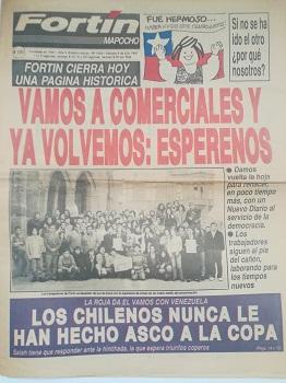 Últimas portada Fortín Mapocho, memoriachilena.cl I(c)