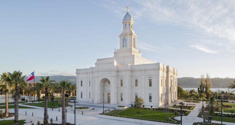El Templo de Concepción es el segundo en Chile de la Iglesia Mormona. |