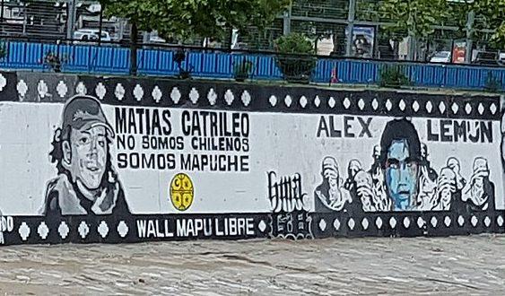 Grafiti en Santiago en homenaje a Matías Catrileo y Alex Lemún | Wikipedia