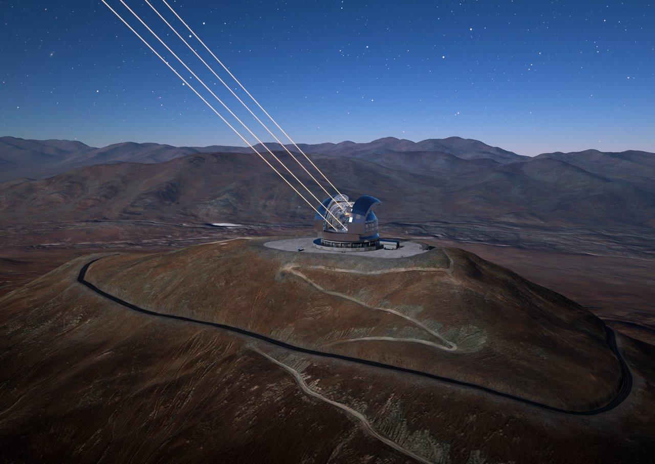 Impresión artística del European Extremely Large Telescope   ESO/L. Calçada