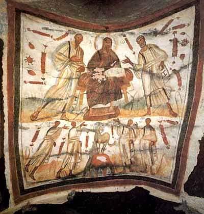 Jesús entre Pedro y Pablo