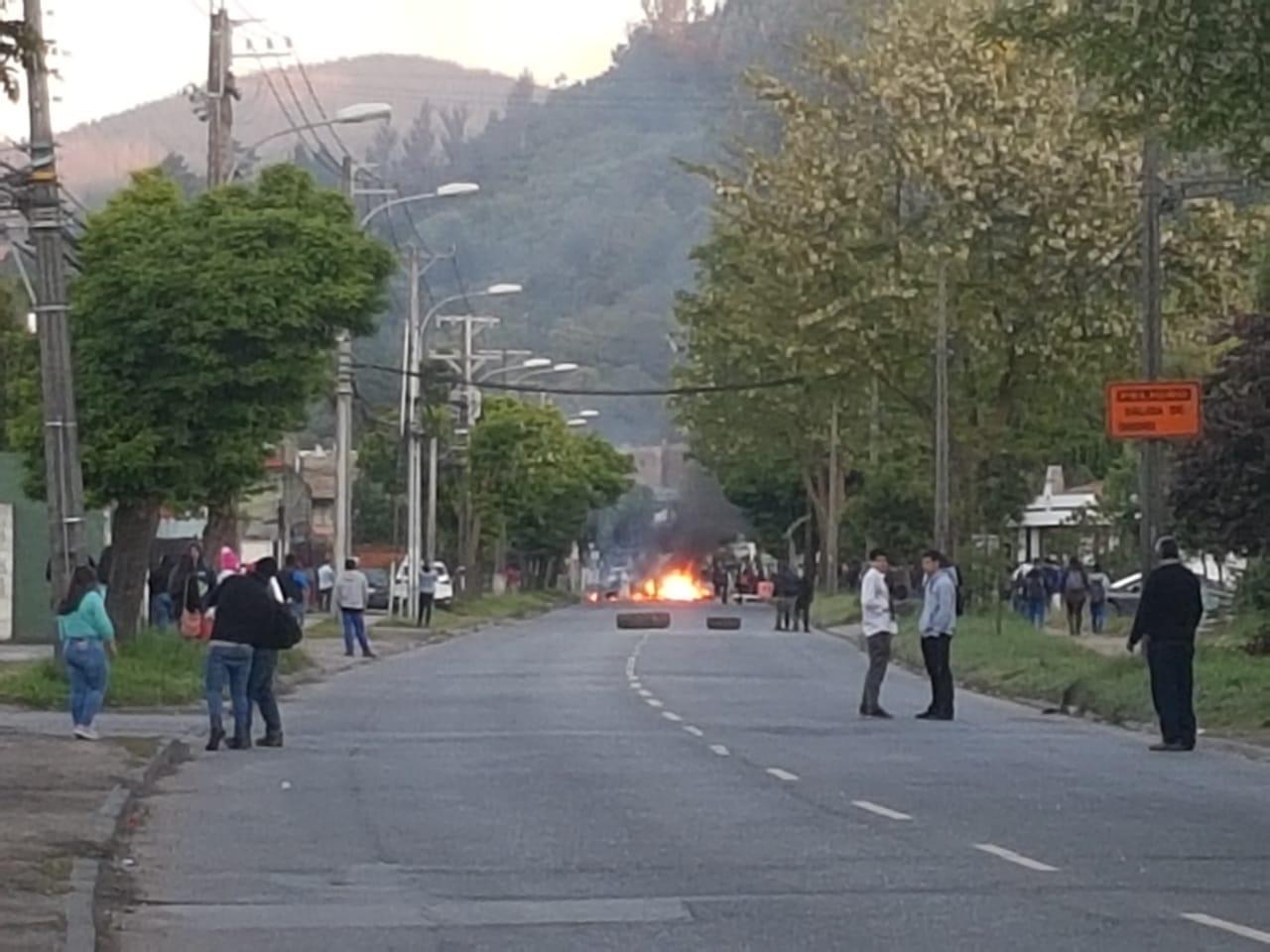 Cedida (RBB) | Barricadas en Universidad del Bío Bío