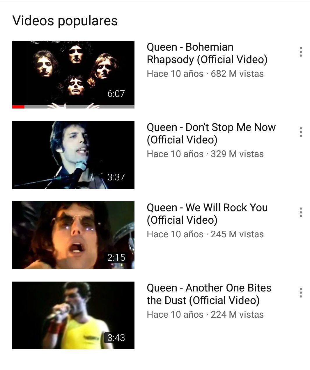 Reproducciones de Queen se disparan a nivel mundial tras estreno de