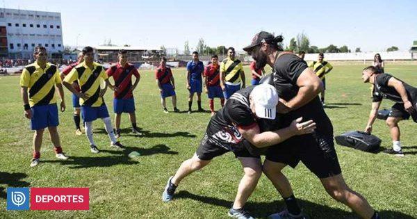 Los All Blacks realizaron una inédita actividad deportiva en Colina 1