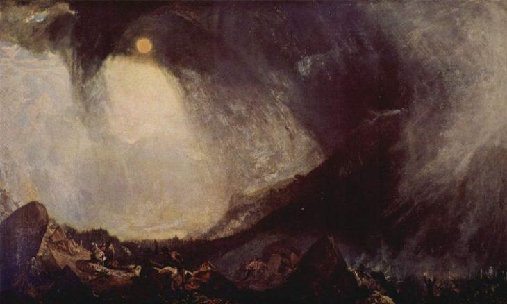 Tempestad de nieve: Aníbal y su ejército cruzan los Alpes | Turner
