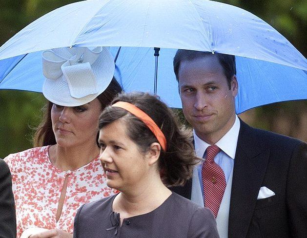 Kate y William en la boda de un amigo