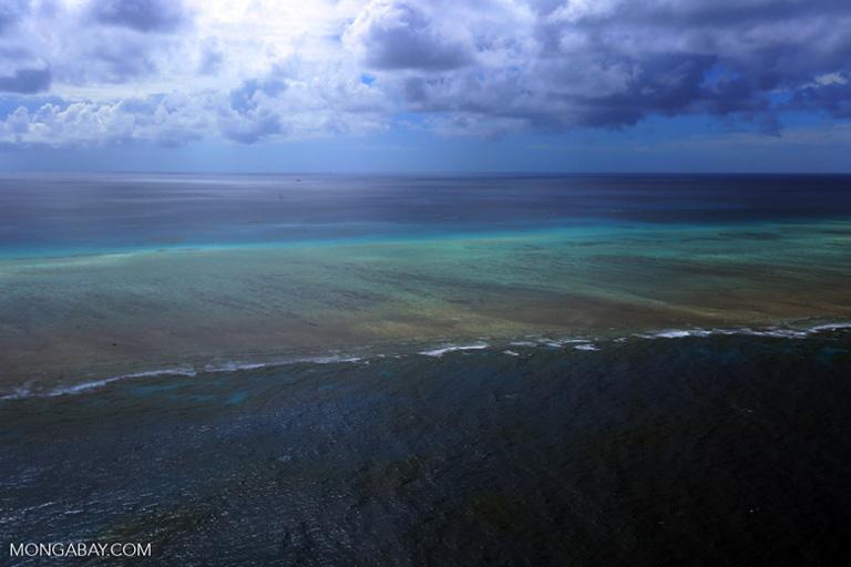 Una vista aérea de la Gran Barrera de Coral. Imagen de Rhett A. Butler/Mongabay.