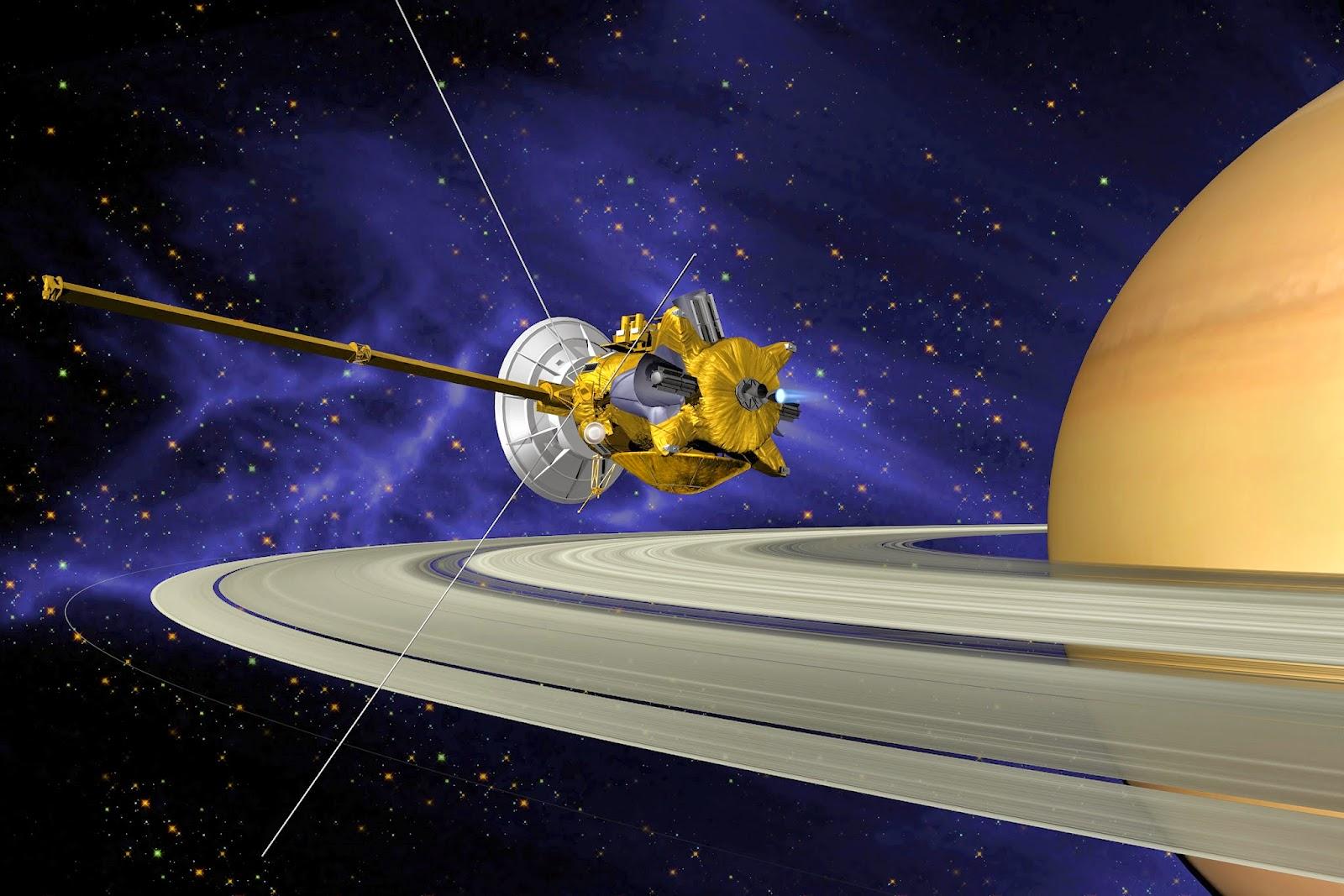 Representación de la sonda Cassini en Saturno | NASA