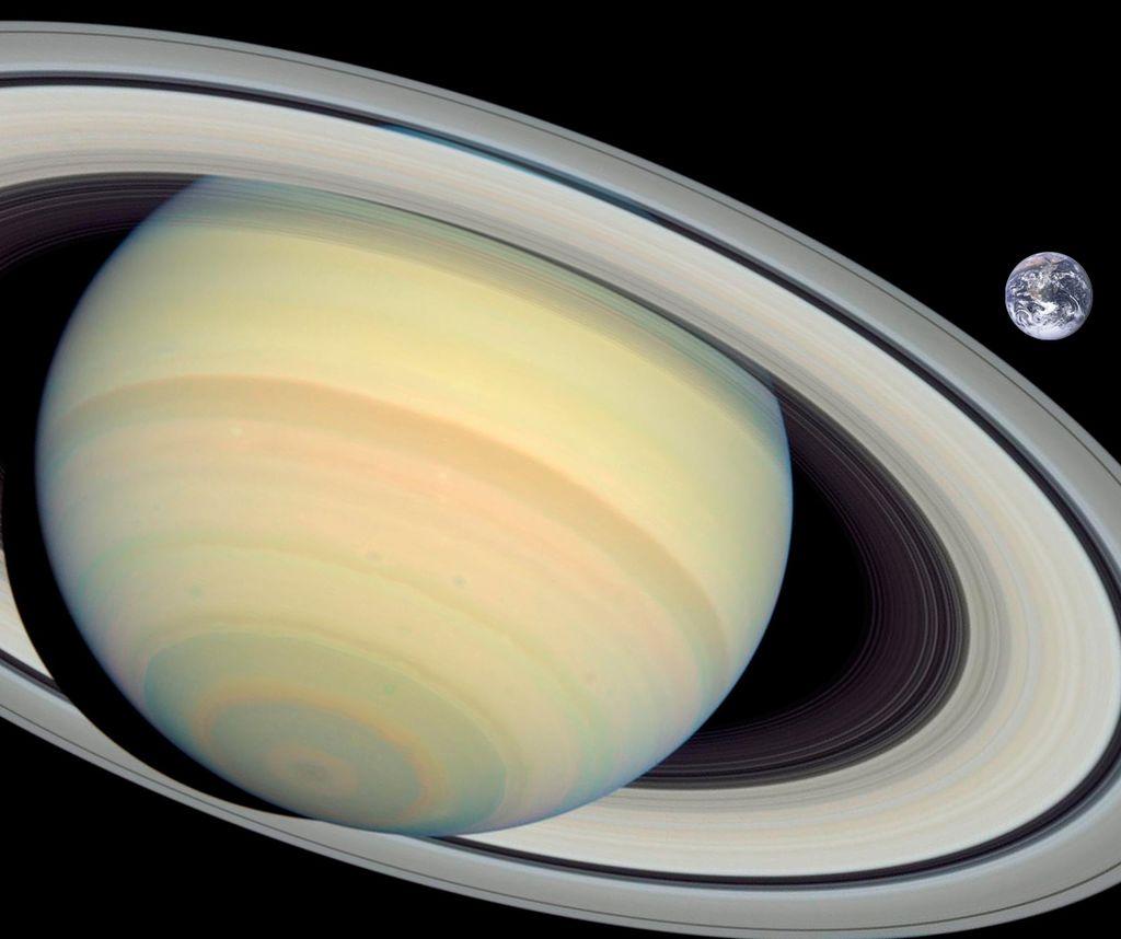 Comparación entre Saturno y la Tierra | NASA