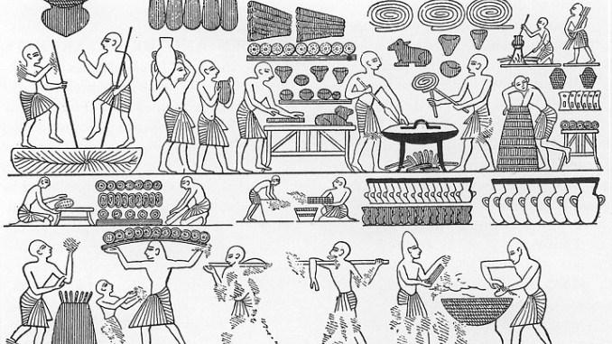 Jeroglífico de la alimentación de Ramsés III | Wikimedia Commons