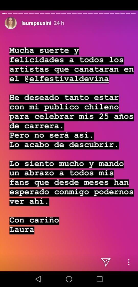 Laura Pausini en Instagram