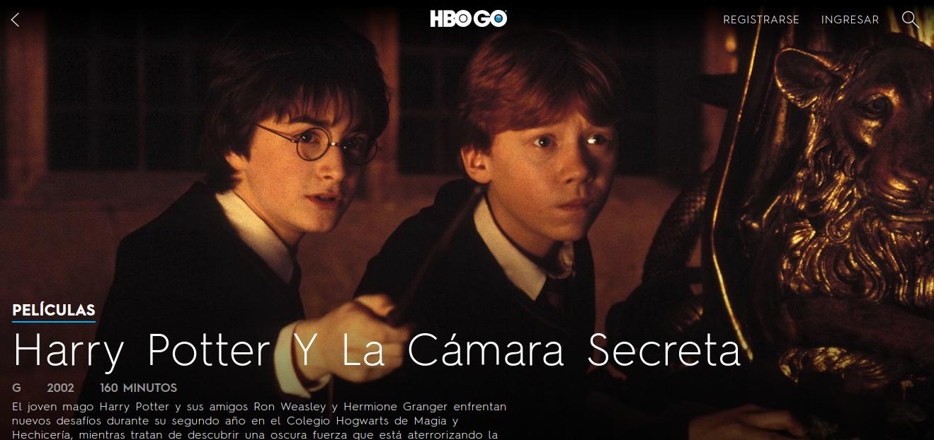 """""""Harry Potter y la cámara secreta"""" en HBO GO"""