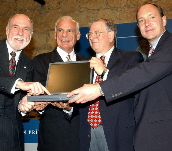 Larry Roberts (segundo de izquierda a derecha) | Fundación Princesa de Asturias