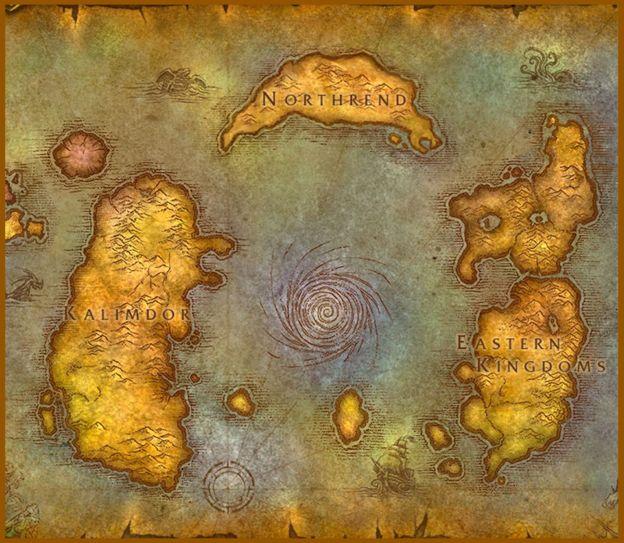 Mapa de Azeroth   BLIZZARD ENTERTAINMENT