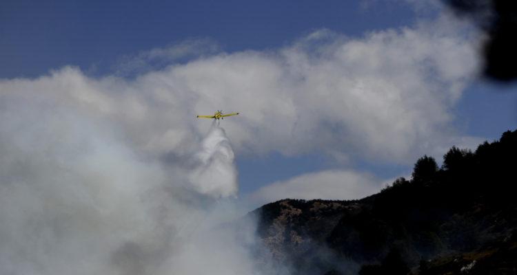 Avión de Conaf en Aysén | Jonaz Gómez | Agencia UNO