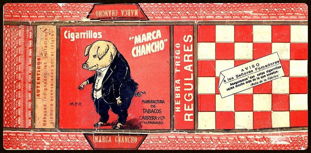 Envoltorio de cigarros Marca Chancho | Archivo