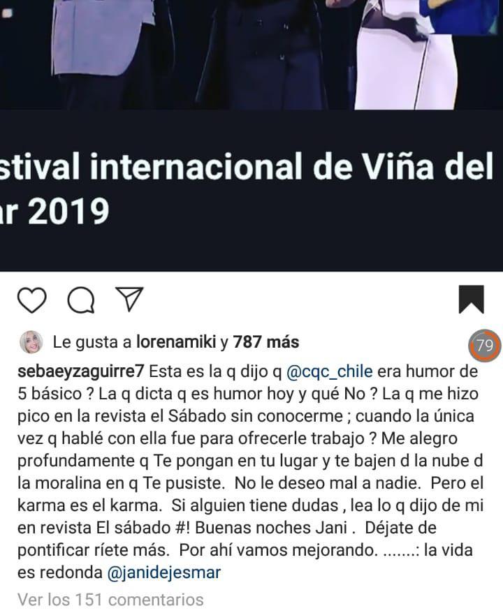 Jani Dueñas pasó bochornoso momento durante el festival   FOTOS — Viña del Mar