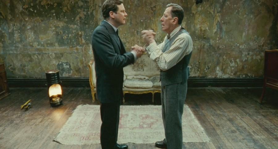 Colin Firth (Jorge VI) y Goffrey Rush (Lionel Logue) | EL Discurso del Rey