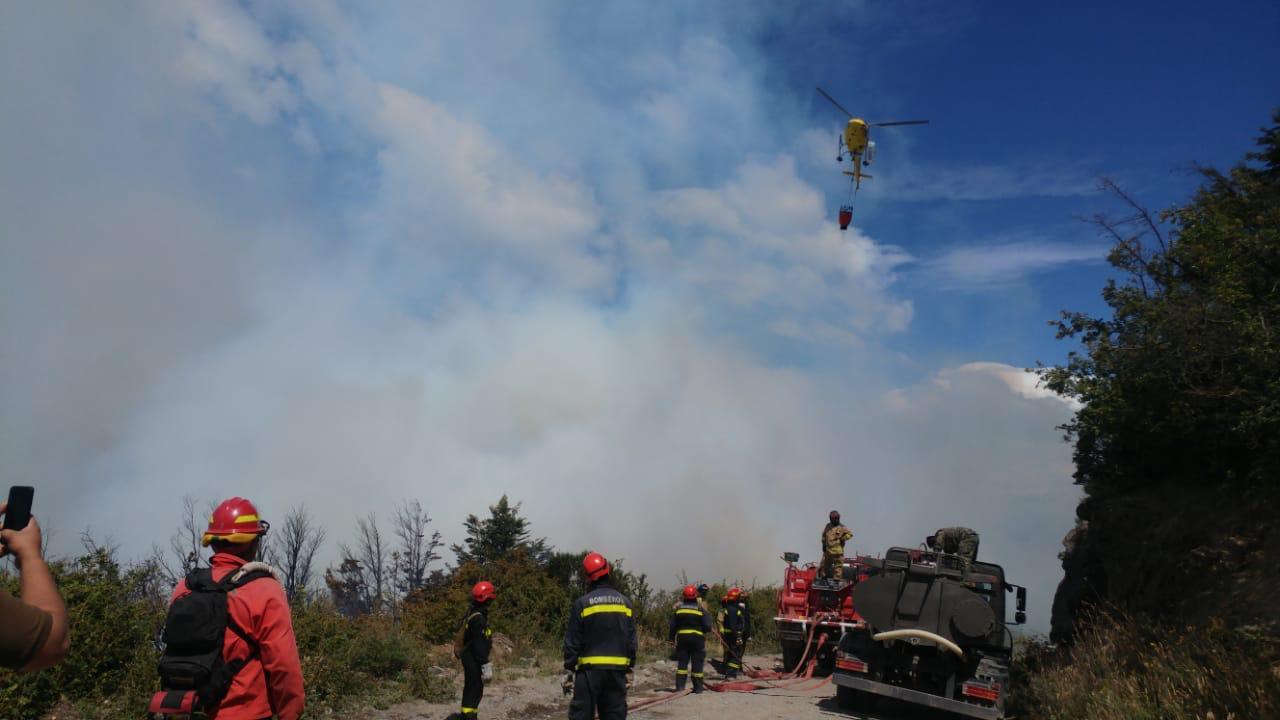 Cedida por Conaf | Incendios en la región de Aysén