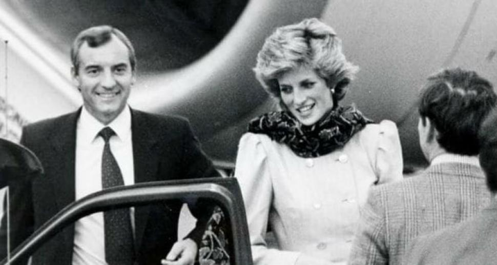 Lady Di junto a Barry Mannakee.